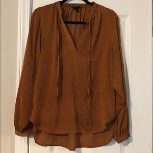 "Copper Satin ""like"" Blouse"